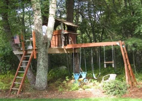 swing set between two trees pinterest the world s catalog of ideas