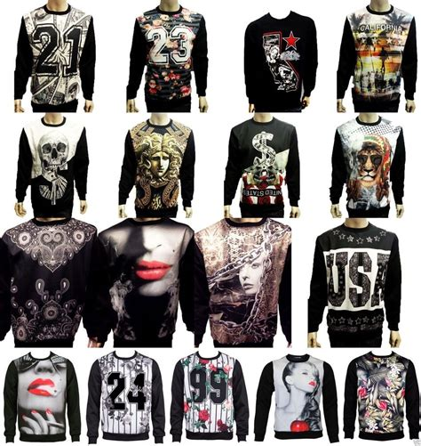 Sweater Swvg Real Picture Cloth konflic mens sublimation crewneck sweaters california marilyn cali swag ebay