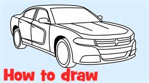 Dodge Charger Drawing How To Draw A Car Dodge Charger Rt 2015
