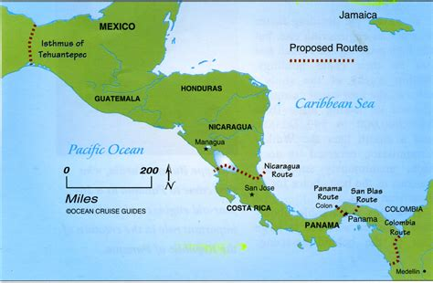 america map oceans crossing oceans central america and china the