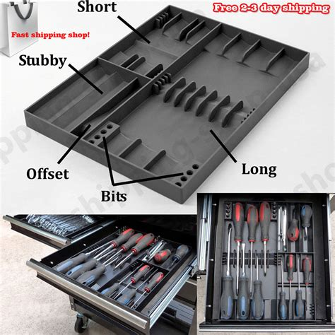 tool cabinet drawer organizers tool box storage organizer for screwdriver holds tray rack