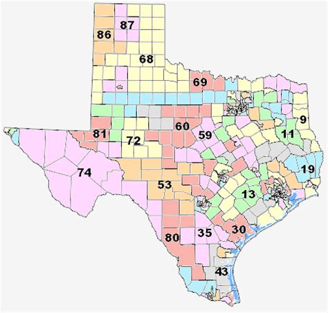 texas state representative map texas house redistricting committee releases proposed map for texas house of representatives