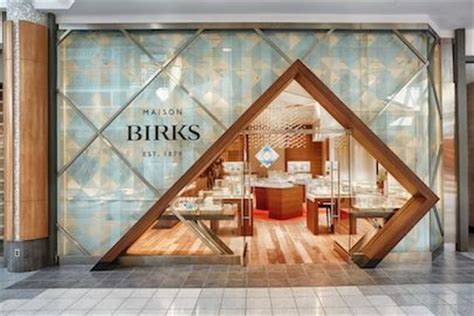 birks jewelry store storefront photography for mapleview