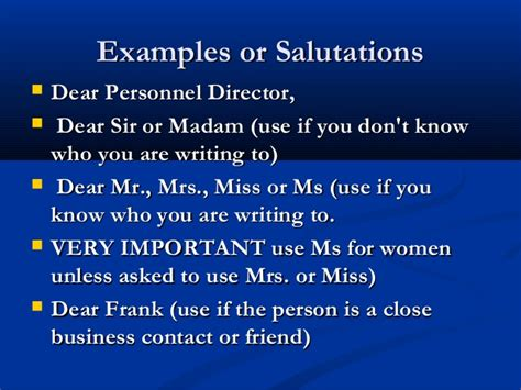 business letter salutation dear sir or madam writing a business letter
