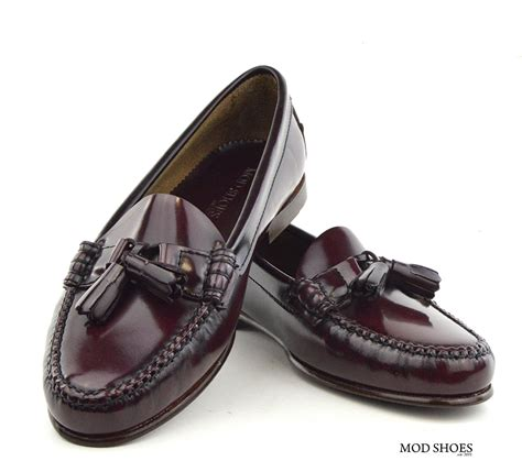 loafer leather shoes oxblood tassel loafer with leather sole the