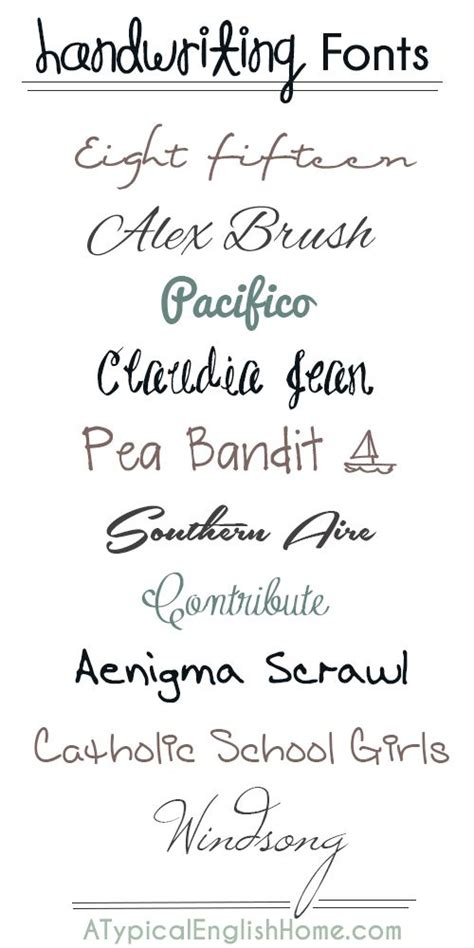 best free handwriting fonts 9 use one of these fonts for your title or journaling