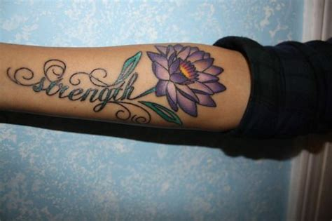flower tattoo representing strength strength tattoo images designs