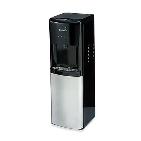 buy primo bottom load cool and cold water dispenser in black stainless steel from bed bath