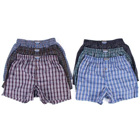 plaid mit ärmeln new 6 mens boxers plaid shorts undewear lot cotton briefs