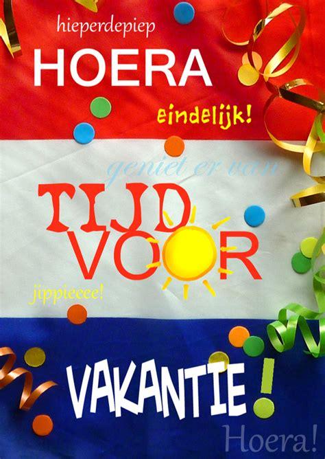 Tijd Registreren Via Extranet Voor vakantie tijd vlag vakantiekaarten kaartje2go