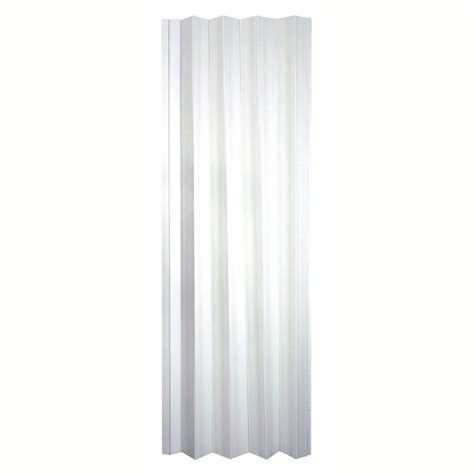 Spectrum Accordion Doors by Spectrum 36 In X 80 In Via Vinyl White Accordion Door