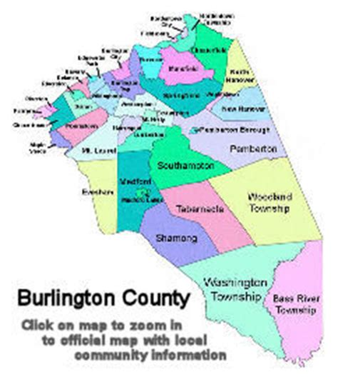 Burlington County Records Map Of Burlington County Nj My