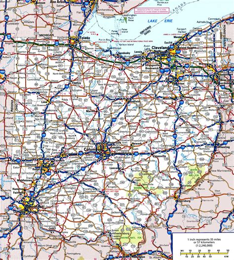 ohio in usa map road map of ohio state maps usa travel maps and major