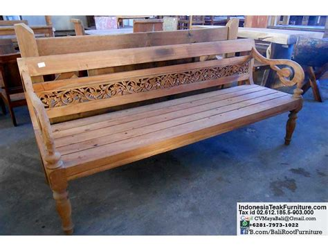 indonesian teak bench indonesian teak furniture daybeds