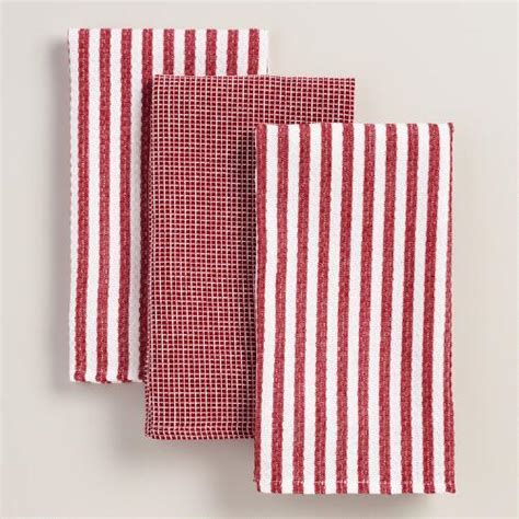 Waffle Weave Kitchen Towels by Waffle Weave Kitchen Towel Set Of 3