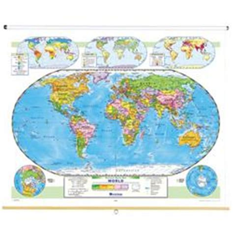 nystrom political relief world map