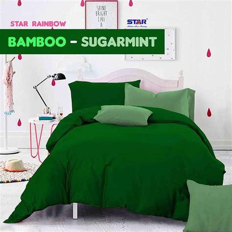 detail produk sprei dan bedcover bamboo sugarmint toko