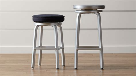 Spin Swivel Backless Bar Stool by Spin Swivel Backless Bar Stools And Cushion Crate And Barrel
