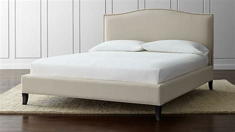 calfornia king bed colette upholstered california king bed crate and barrel