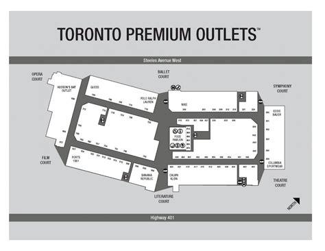 premium outlets map toronto premium outlets halton urbantoronto