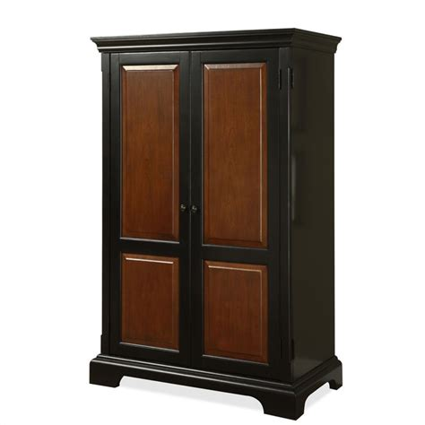 Riverside Furniture Bridgeport Antique Black Computer Home Office Computer Armoire