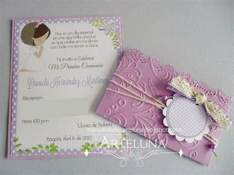 invitaciones primera comuni n tarjetas e invitaciones invitaciones para primera comuni 243 n de ni 241 o hechas a mano