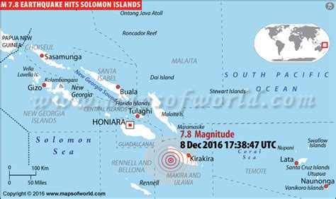 earthquakes  solomon islands areas affected