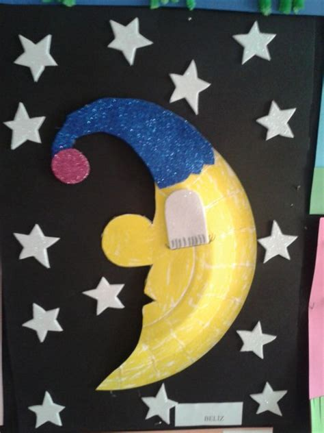 Paperbag Moon crafts actvities and worksheets for preschool toddler and kindergarten