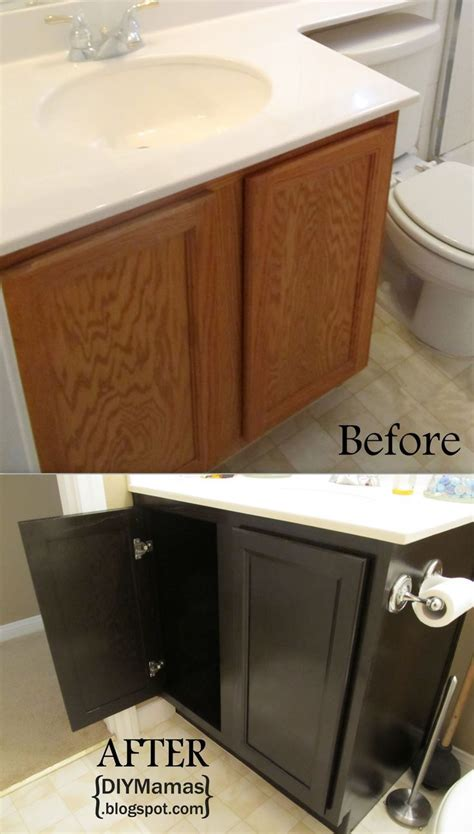 refinishing bathroom cabinets refinishing cabinets a must pin make for any