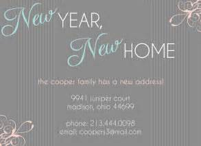 moving announcement change of address card new year new