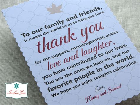 thank you letter after wedding reception wedding reception thank you card wording imbue you i do