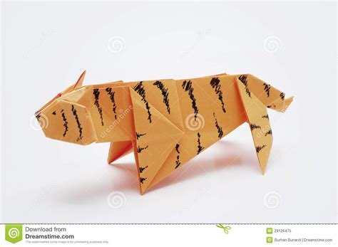 Origami Tiger Easy - tiger origami royalty free stock photo image 29126475