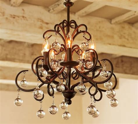 Chandeliers Pottery Barn Bellora Chandelier Pottery Barn Home