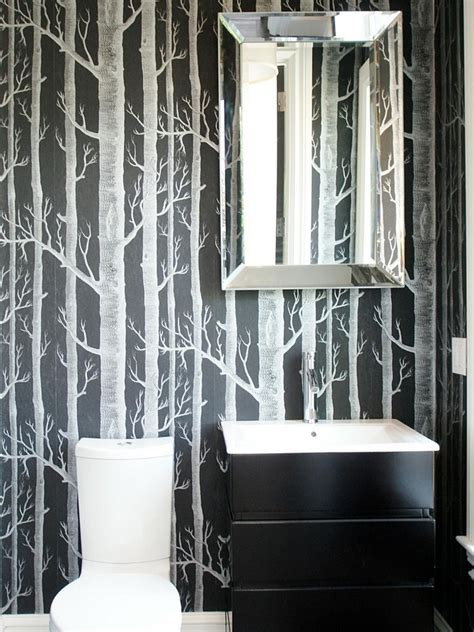 black and white wallpaper for bathrooms black and white bathrooms design ideas