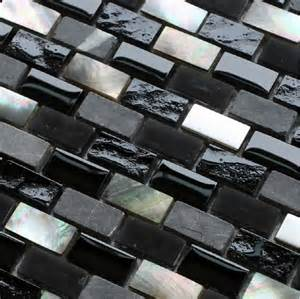 grey mosaic black glass mosaic kitchen backsplash
