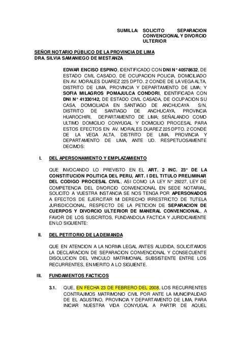 modelo de mutuo acuerdo derecho laboral panam ensayos demanda de divorcio de mutuo acuerdo modelo para
