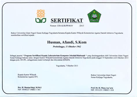 contoh sertifikat komputer images service laptop