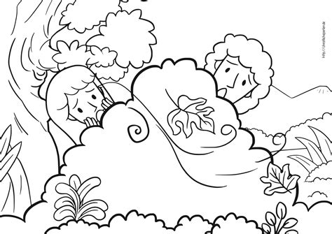 Genesis 3 Coloring Page by Adam Und Ausmalen Adam And Coloring Pages