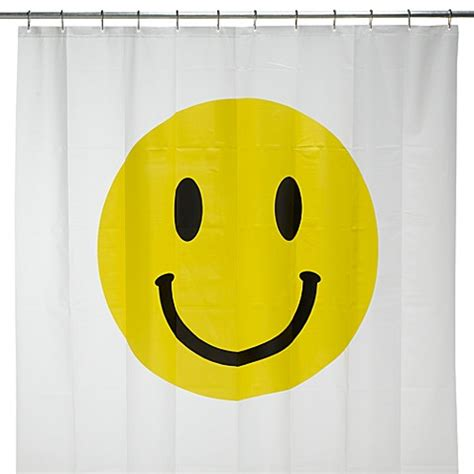 smiley face shower curtain smiley face 72 quot x 72 quot vinyl shower curtain bed bath beyond