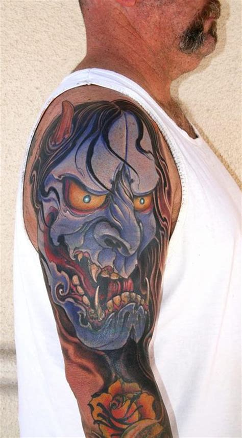 Hannya Mask Tattoo Cover Up | off the map tattoo traditional asian tattoos page 1