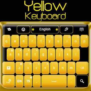 go keyboard themes yellow yellow keyboard android apps on google play