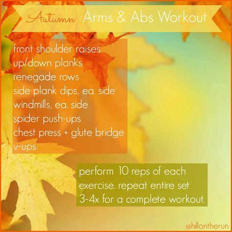 autumn arms abs workout