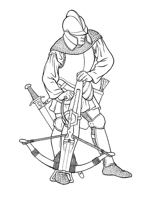 crossbow coloring page coloring page warrior with a crossbow