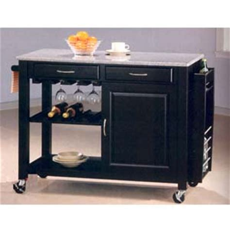 mini kitchen cart islands without wheels granite portable black wine cart with granite top and wheels 5870 co