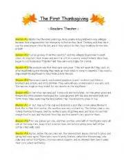 first thanksgiving play the first thanksgiving readers theater