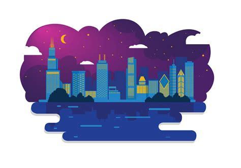 clipart vectors chicago skyline vector free vector