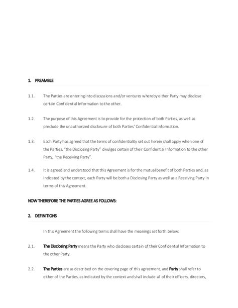 confidentiality agreement template south africa non disclosure agreement south africa