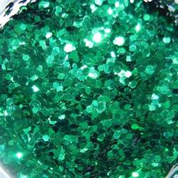 emerald green hex emerald green glitter large hex cut 1lb