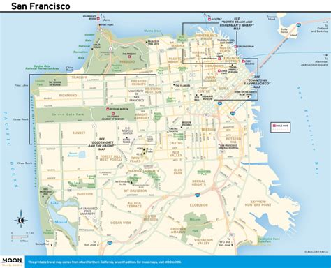san francisco coast map exploring san francisco on the pacific coast route road