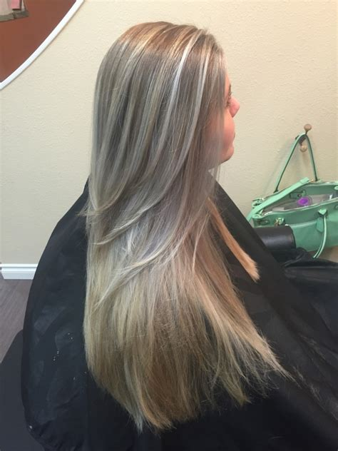 long hairstyles with color highlights stylists redmond salon and spa waunanuba salon spa